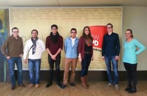 Jusos aus Eschweiler und Stolberg zu Besuch im Landtag