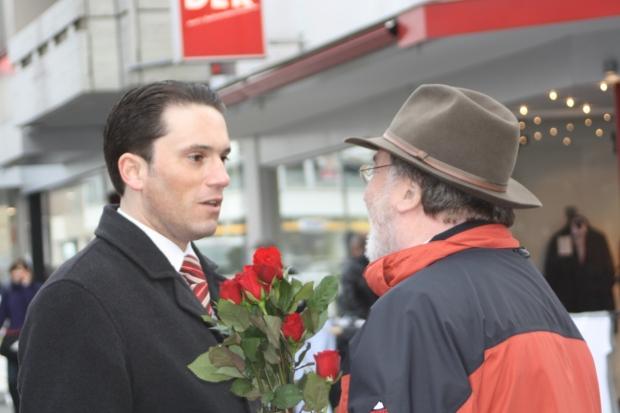 SPD Eschweiler - Straßenwahlkampf am 12.04.2010