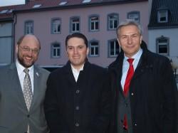 Martin Schulz MdEP, Stefan Kämmerling und Klaus Wowereit