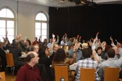 Gebündelte Mitgliederversammlung aller sechs Eschweiler SPD-Ortsvereine am 24.03.2012.