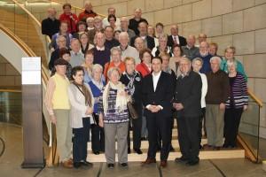 Besuchergruppe der Siedlergemeinschaft Stolberg/Mausbach zum Besuch im Landtag