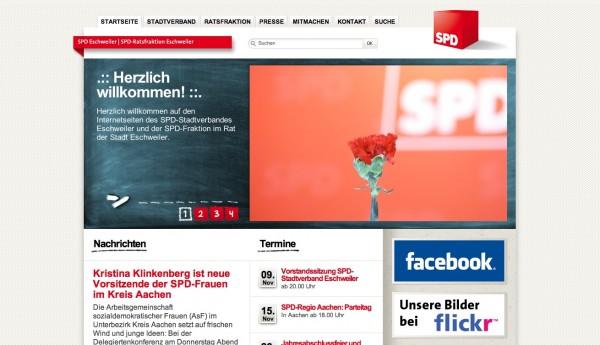 Bildschirmfoto spd-eschweiler.de