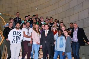 Deutsch-Französische Begegnung im Düsseldorf - Jugendaustausch Eschweiler/Wattrelos besucht den NRW-Landtag