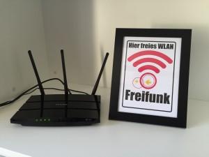 Freifunk-Router im Wahlkreisbüro von Stefan Kämmerling MdL