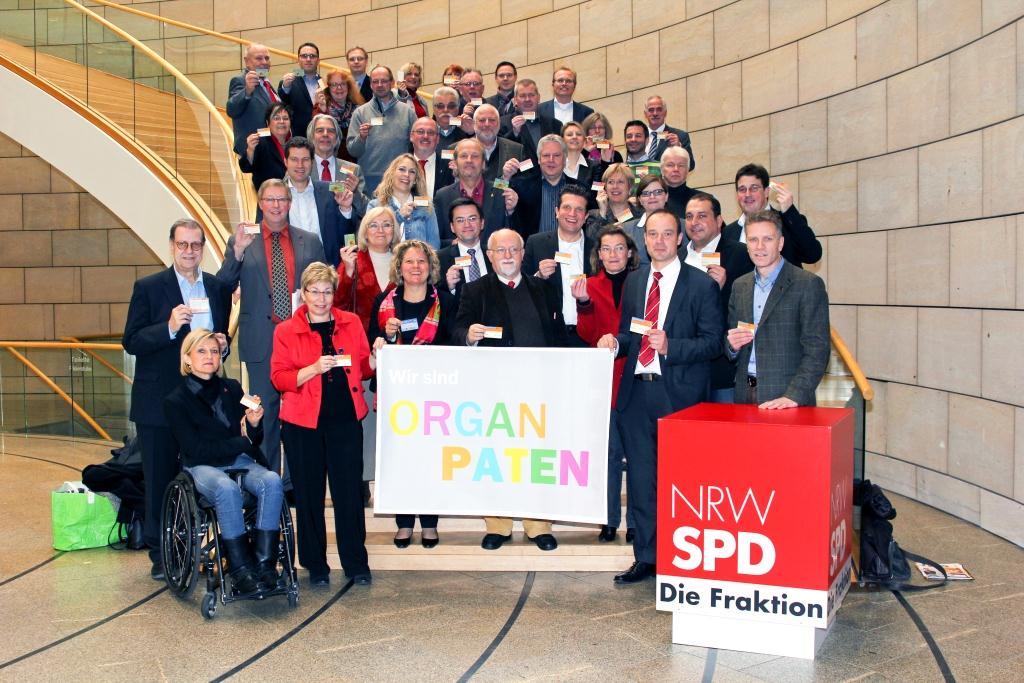 SPD-Fraktion zeigt Flagge für die Organspende