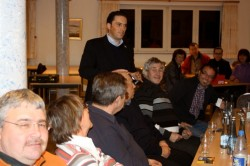 SPD-Landtagskandidat Stefan Kämmerling bei der Politikwerkstatt in Monschau