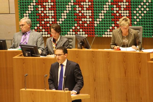 Stefan Kämmerling MdL im Plenum