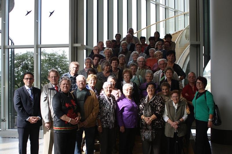 Besuchergruppe des Gemeindezentrums Herz-Jesu, Eschweiler mit Stefan Kämmerling MdL im Landtag von Nordrhein-Westfalen
