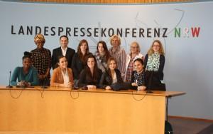 Schülerinnen der Realschule Patternhof beim Girls Day im Landtag NRW