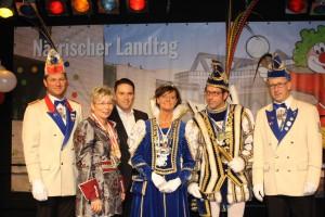 rinz Stephan I. und Prinzessin Uschi I. (Mahr) von der KG Klev Botze aus Rollesbroich