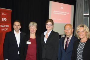 Stefan Kämmerling MdL, Ute Fischer, Sarah Philipp MdL, Prof. Axel Thomas und Eva-Maria Voigt-Küppers