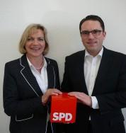 Bildunterschrift: Eva-Maria Voigt-Küppers und Stefan Kämmerling gehen inhaltlich gut aufgestellt gemeinsam in den Wahlkampf.