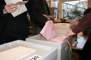 Stimmabgabe im Wahllokal, Bild: Alexander Hauk