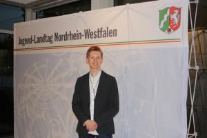Jugend-Landtagsabgeordneter Christian Zylus im Landtag NRW