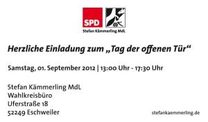 """""""Tag der offenen Tür"""" im Wahlkreisbüro am 01.09.2012"""