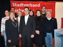 Der neue Vorstand des SPD-Stadtverbandes Eschweiler mit dem neuen Vorsitzenden und Landtagskandidat Stefan Kämmerling