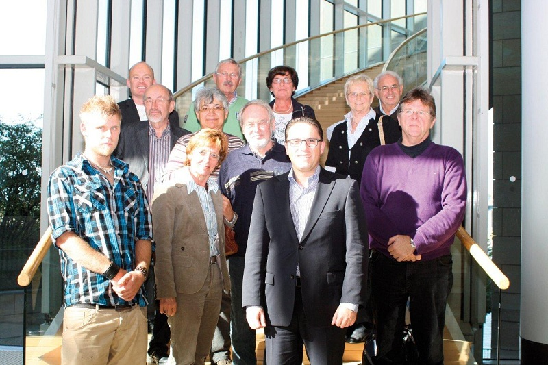 Stefan Kämmerling MdL mit Genossinnen und Genossen aus den SPD-Stadtverbänden Eschweiler und Stolberg