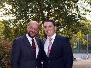 Martin Schulz MdEP, Vorsitzender der SPD im Kreis Aachen, und Stefan Kämmerling