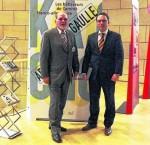 Peter Schöner, Vorsitzender des Europavereins GPB Eschweiler zusammen mit Stefan Kämmerling im Landtag NRW