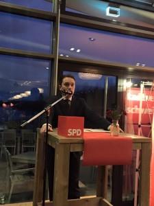 SPD-Stadtverbandsvorsitzender Stefan Kämmerling MdL bei seinem Grußwort