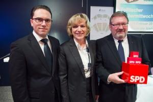 Stefan Kämmerling MdL, Eva-Maria Voigt-Küppers MdL und SPD-Bundestagskandidat Detlef Loosz