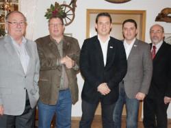 V.l.n.r.: Dieter Wolf, Manfred Wüller, Martin Peters, Stefan Kämmerling und André Brümmer.
