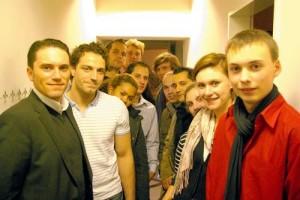 Stefan Kämmerling (ganz linksim Bild) mit Mitgliedern der Jusos Stolberg und ihrem neuen Vorsitzenden Tim C. Schmitz ganz rechts im Bild (Foto: J. Lange)