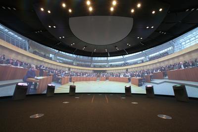 Besucherzentrum des Landtags Nordrhein-Westfalen; Bild: Landtag NRW / Schälte