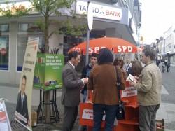 Jede Stimme zählt! - Wahlkampfstand der SPD mit Landtagskandidat Stefan Kämmerling